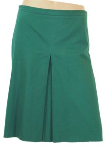 Moschino Forrest Pleated Midi Skirt Green