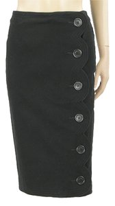 Moschino Pencil Cotton Skirt Black