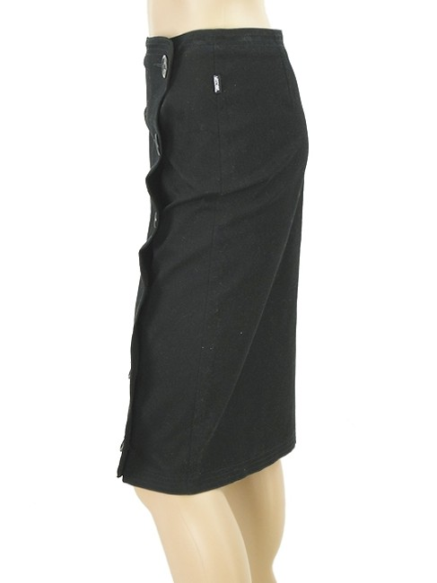 Moschino Pencil Embroidered Skirt Black