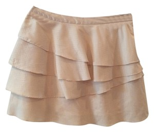 Urban Outfitters Mini Skirt Cream