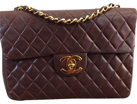 Preload https://img-static.tradesy.com/item/1100104/chanel-vintage-jumbo-classic-brown-shoulder-bag-0-1-540-540.jpg