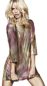 H&M Sequin Mini Gold Pretty Dress
