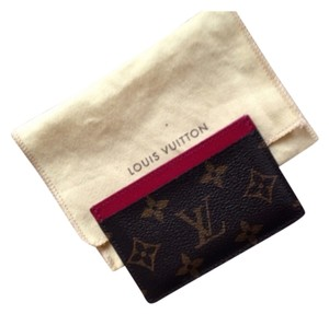Louis Vuitton Louis Vuitton Cards Holder/wallet Dark Pink