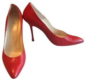 Saks Fifth Avenue - Asila Brogan Made In Italy Red Pumps