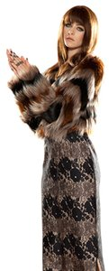Twelfth St. by Cynthia Vincent Faux Fur Boho Bohemian Fur Coat