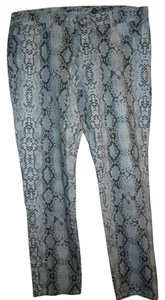 7 For All Mankind Snakeskin Skinny Jeans-Light Wash