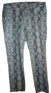 7 For All Mankind Snakeskin Print Skinny Jeans-Light Wash