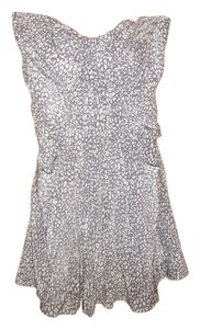 Charlie jade short dress gray and white on Tradesy