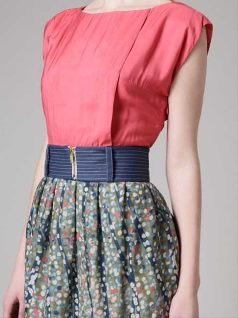 Lauren Moffatt short dress Print Belted Pink Salmon on Tradesy