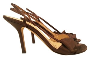 Kate Spade Satin Slingback Brown Sandals