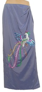 Future Ozbek Sequin Drape Draped Maxi Skirt Blue, Purple, Lavender