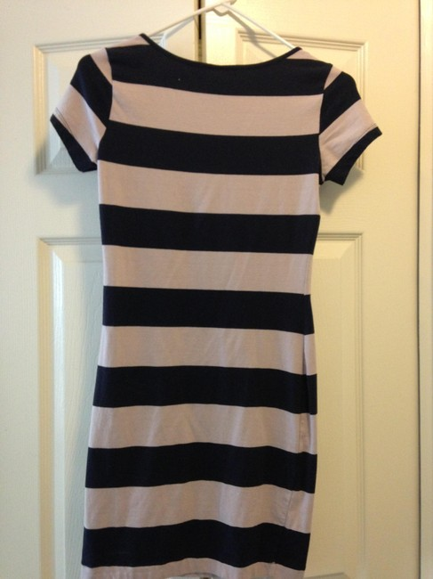 H&M short dress navy blue and pink on Tradesy