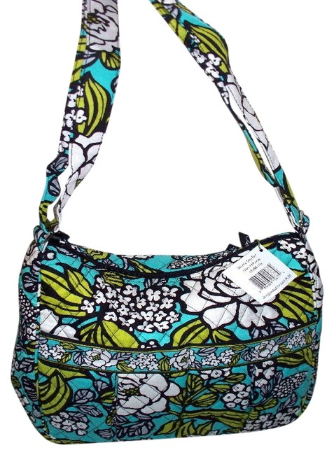 Item - Moms Day Out Island Blooms Teal White Cotton Diaper Bag