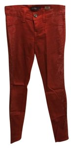 Level 99 Skinny Pants Red