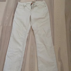 Christopher Blue Boot Cut Pants Cream
