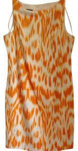 Jones New York short dress Orange White Of on Tradesy