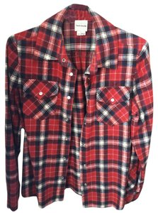 Haute Hippie Button Down Shirt Flannel