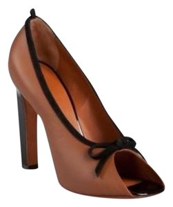 Céline Classic Open Toe Italian Leather tan Pumps