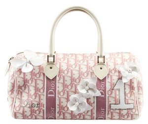 Dior Christian Girly Satchel in White & Pink
