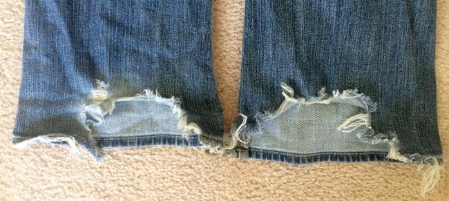 7 For All Mankind Boot Cut Jeans-Distressed Image 2