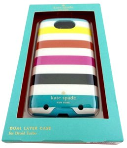 Kate Spade Kate Spade New York Dual Layer Case for Droid Turbo Candy Stripe NEW Boxed
