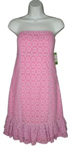 Lilly Pulitzer Lace Strapless Pink Dress