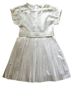 Madewell short dress White Nwt Lace Loose Easy Pleated Overlay Flared Flare Peasant on Tradesy