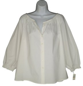 Talbots Peasant Boxy Cotton Top