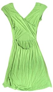 short dress Lime Green Cotton Open Back on Tradesy