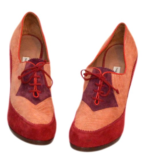 Tabitha Simmons Pink / Red Suede Pumps