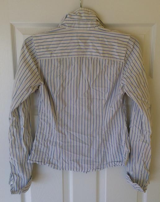 Abercrombie & Fitch Oxford A&f Button Down Shirt White and Blue Image 1