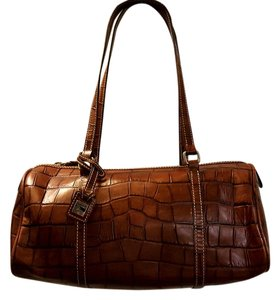Dooney & Bourke Leather Embossed & Barrel Shoulder Bag