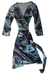 Ann Taylor Wrap Cotton Office Paisley Dress