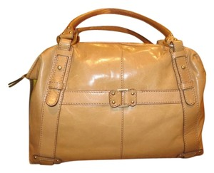 Sigrid Olsen Leather Satchel in Tan/gold