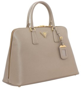Prada Saffiano Leather Tote in Visone (NEW)