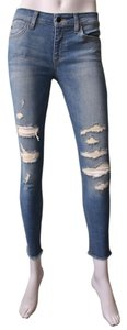JOE'S Jeans Distressed Light Wash Skinny Jeans-Distressed