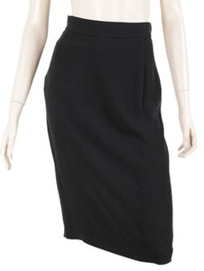 Prada Wool Pencil Classic Skirt Black