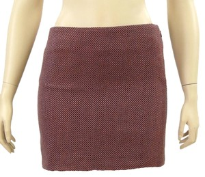 Proenza Schouler Herringbone Mini Ultra Mini Mini Skirt Burgundy, Purple