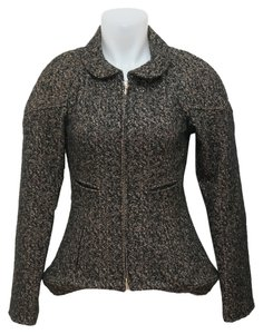 Chanel Designer Wool Gold Black Blazer