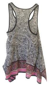 Xhilaration Flowy Sheer Top Black and White Paisley