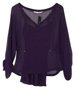 Diane von Furstenberg Silk Top purple