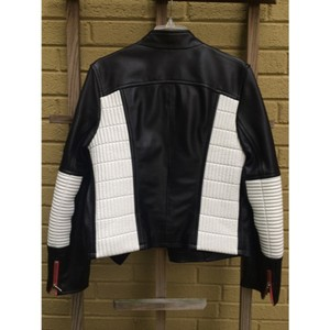 Lu-Man (european) Quilted Leather Biker Zippers European Designer Motorcycle Jacket