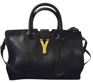 Saint Laurent Tote in black with gold hardware