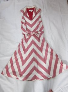 0910c4e384b5a Isaac Mizrahi for Target short dress Red and White  Light Cream on Tradesy
