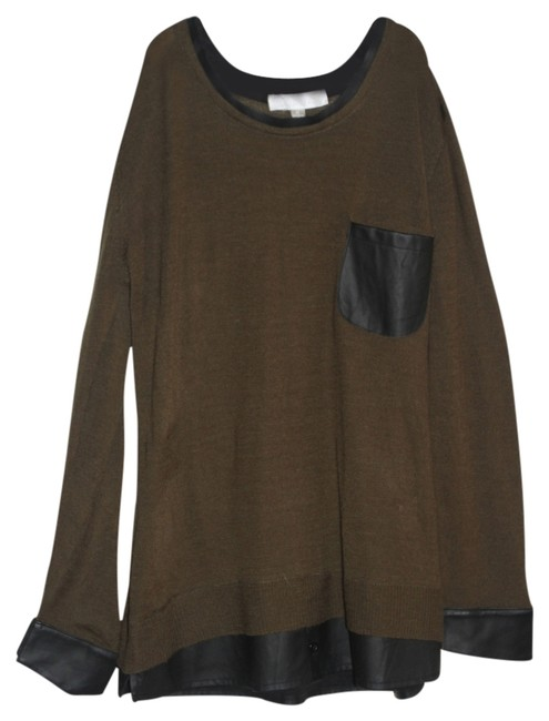 Item - Faux Leather and Army Green Tunic Size 8 (M)