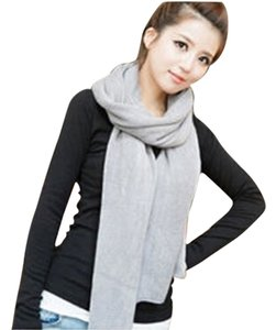 Other Grey Knit Acrylic Warm Winter Scarf Free Shipping
