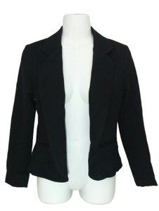 Bar III Open Front Jacket Lapel Medium Black Blazer