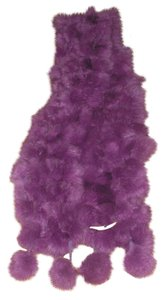 Other Genuine Fur Purple Scarf Free Shipping