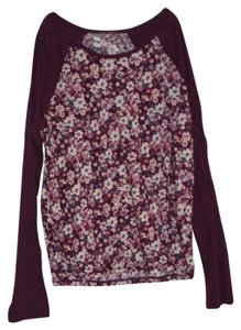 Nollie T Shirt Maroon/Flowers