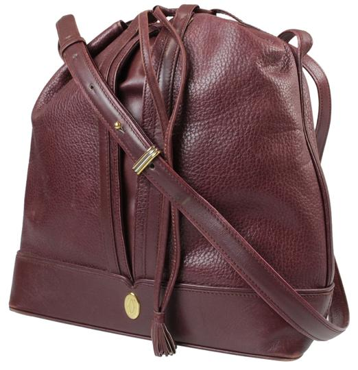 Preload https://img-static.tradesy.com/item/11008006/cartier-must-de-logos-bordeaux-leather-vintage-shoulder-bag-0-1-540-540.jpg
